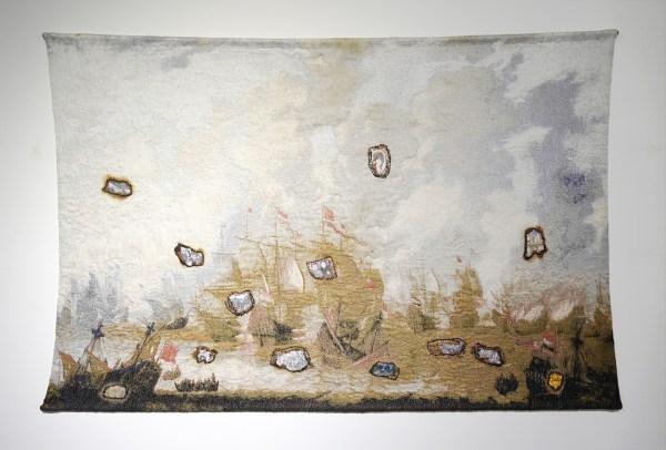 Marielle van den Bergh - Ons Geweld - 240x160cm Katoen, wol, mohair, acryl en viscose