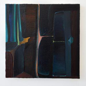 Julius Stibbe - Scully - 60x60cm, Olieverf en oilstick op canvas