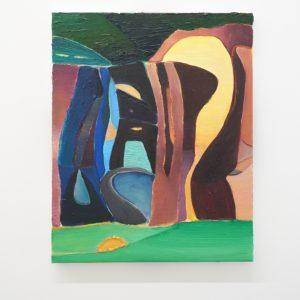 Julius Stibbe - Zonder Titel - 50x40cm Olieverf en oilstick op canvas