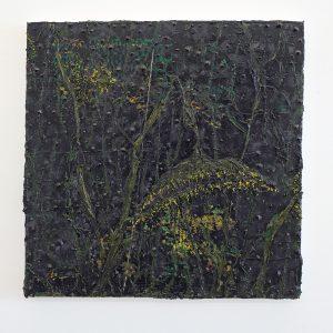 Ronald Zuurmond - Nacht (Zonnebloem) - 50x50cm Olieverf op canvas