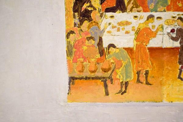 Matthias Weischer - Abend - Olieverf op doek (detail)