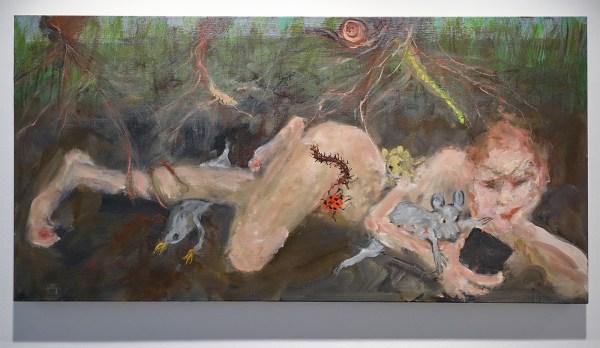 Eva Beresin - A few feet under 2 - 60x122cm Mixed media op doek