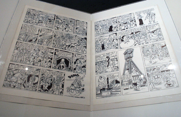 Suske & Wiske, De Mysterieuze Mijn - Inkt op papier