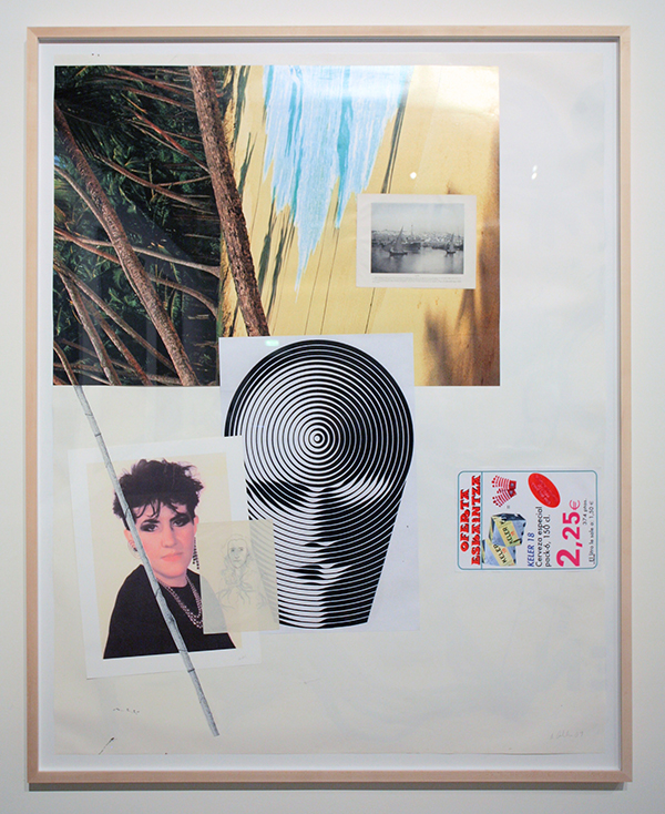Albert Oehlen, Untitled, 2009, collage on paper