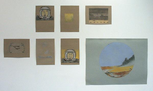 Aleks William Hill - Zes Kleine Tekeningen - 30x42cm & Twee Grote Tekeningen - 100x75cm (respectievelijk 1 van de twee) - Houtskool en pastel op papier
