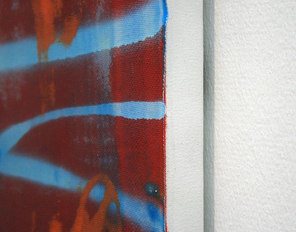 Alex Hubbard - All My Good Intentions - Acrylverf, lakverf, kunsthars en glasvezel op doek (detail)