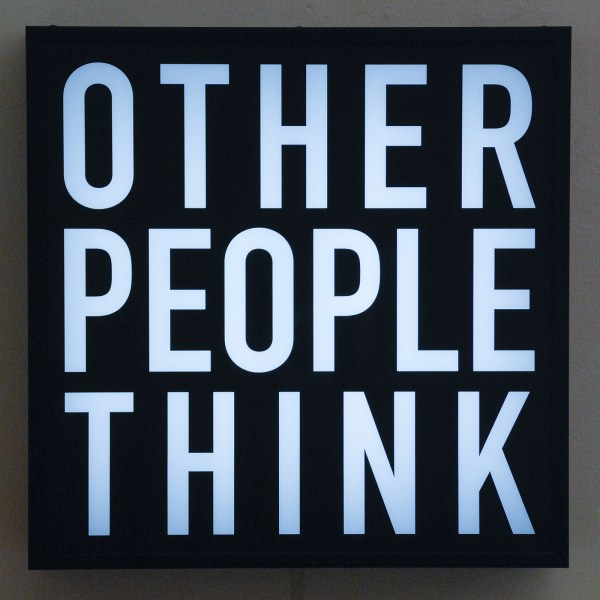 Alfredo Jaar - Other People (A Text by John Cage) - 20x20x5inch Vinyl op plexiglas lichtbox