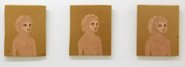 Anne Forest - Urvi I, II & III - 28x23cm Potlood en acrylverf op paneel