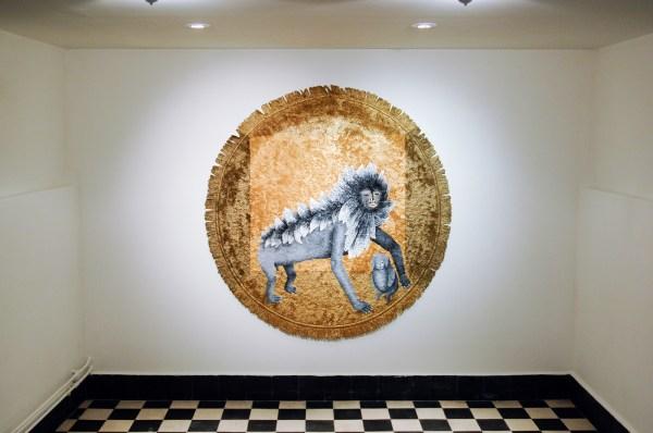 Anne Forest - Yuri B - 150x150cm Acrylverf op tapijt