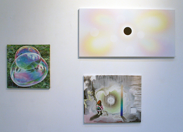 Anya Janssen - We are Stardust, We are Golden 5 - 40x40cm & Roland Schimmel - Untitled - 50x100cm & V&B - Antipole (Lake Hope) 40x50cm