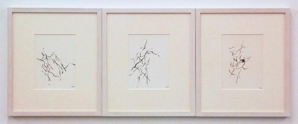 Armando - Studien zur Dekadenz - drie maal 18x13cm Potlood op papier