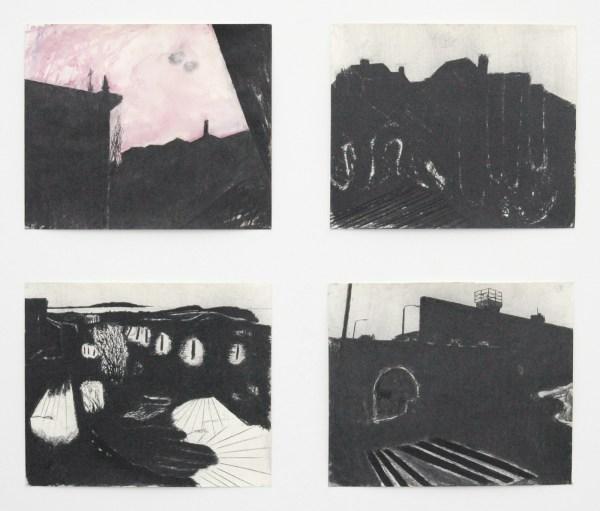 Arno Kramer - Zonder Titel - Aquarel en houtskool op papier