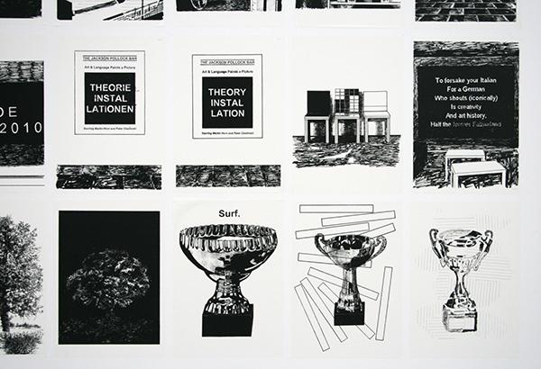 Art & Language - Portraits of a Dream III - 147 prints en 147 slingers Installatie (detail)