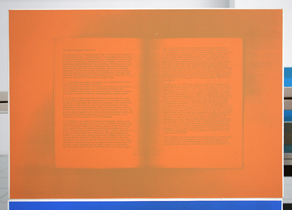Art & Language - Sighs Trapped by Liars 770-846 - 76panelen van 30x42cm Alogram op canvas (detail)