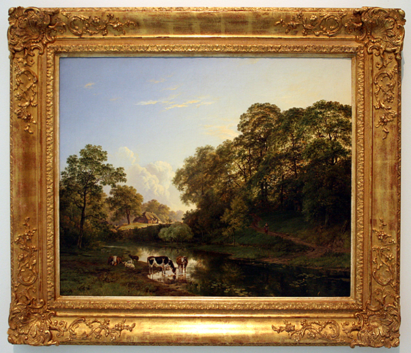 Barend Cornelis Koekkoek - Gezicht op het Kastanjewoud bij Beek - Olieverf op doek