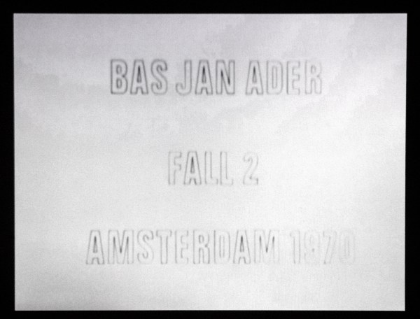 Bas Jan Ader - Fall 2, Amsterdam - 19seconden 16mm film (op DVD), 1970