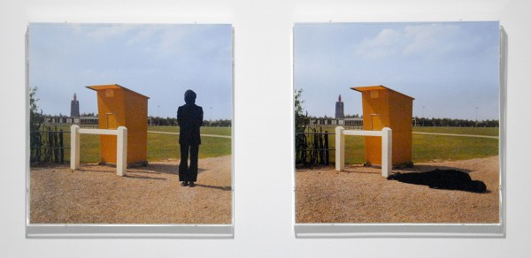 Bas Jan Ader - Untitled (Westkapelle, The Netherlands) - 2maal 41x41cm Foto's, 1971