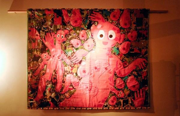 Bas Kosters - Schwarzwald Sunset Tree Gathering - 120x146cm Textiel en borduursel