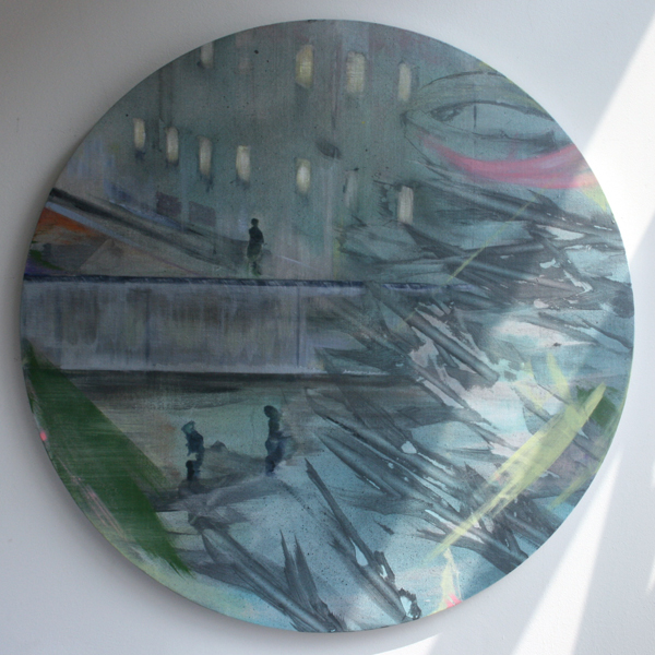 Bert Frings - Seperation - 100cm Arcylverf op canvas