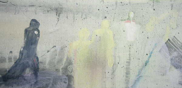 Bert Frings - The Forgotten - 160x200cm Arcylverf op canvas (detail)