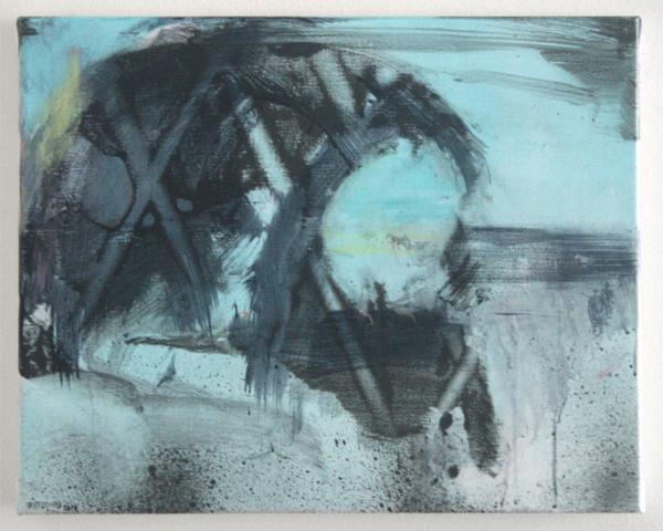 Bert Frings - The Forgotten Painter - 40x50cm Arcylverf op canvas