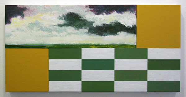 Bert Loerakker - Zonder Titel (U) - 60x120cm Alkydverf en alkydlak op linnen op paneel
