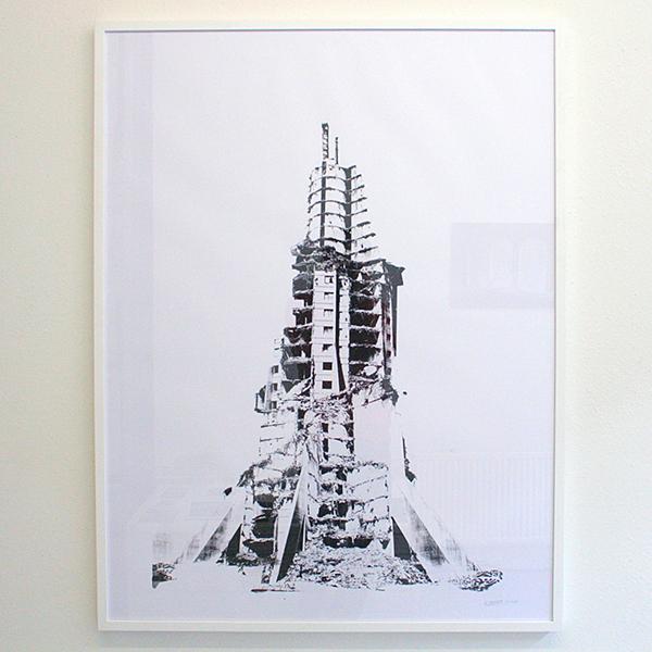 Bram Braam - Tower of Babel 2 - 90x118cm Zeefdruk