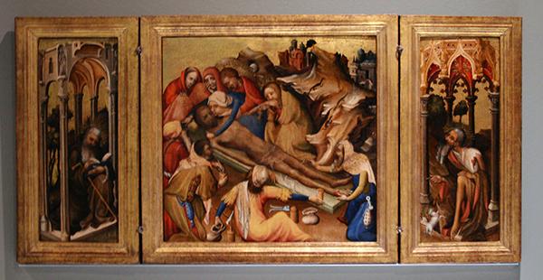Brugge (?) Drieluik met balseming van het lijk van Christus - Paneel