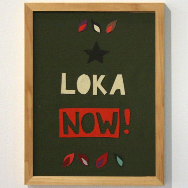 Carl-Johan Högberg - Loka Now! - 43x33cm Vilt op stof
