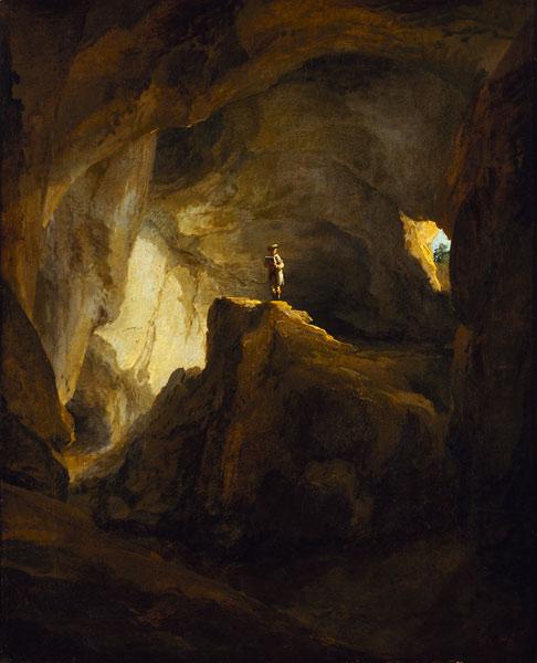 Caspar Wolf - Das Innere der Bärenhöhle beio Welschenrohr - 43x35cm