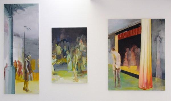 Casper Verborg - Zonder Titel - 180x70cm, 110x70cm, 140x110cm Acrylverf en olieverf op doek