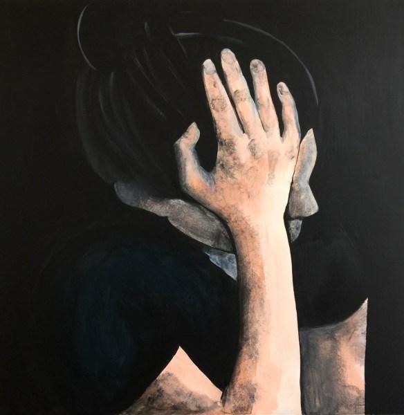 Chantal van Houten - Regrets - 60x60cm Acrylverf op paneel