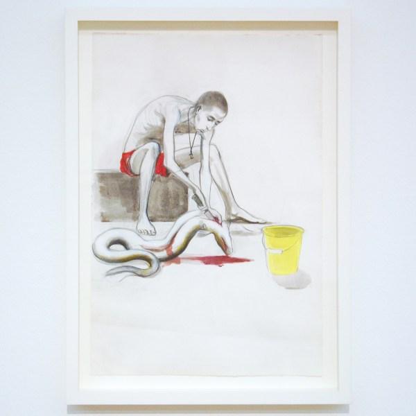 Charles Avery - Untitled (Eel Gutter) - Potlood, inkt en waterverf op papier