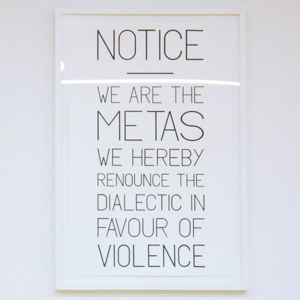 Charles Avery - Untitled (Metas Poster) - Potlood en gouache op papier
