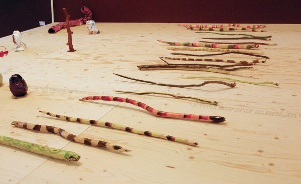 Charlie Roberts - Snakes - Acrylverf op hout (€150,- tot €250,-)