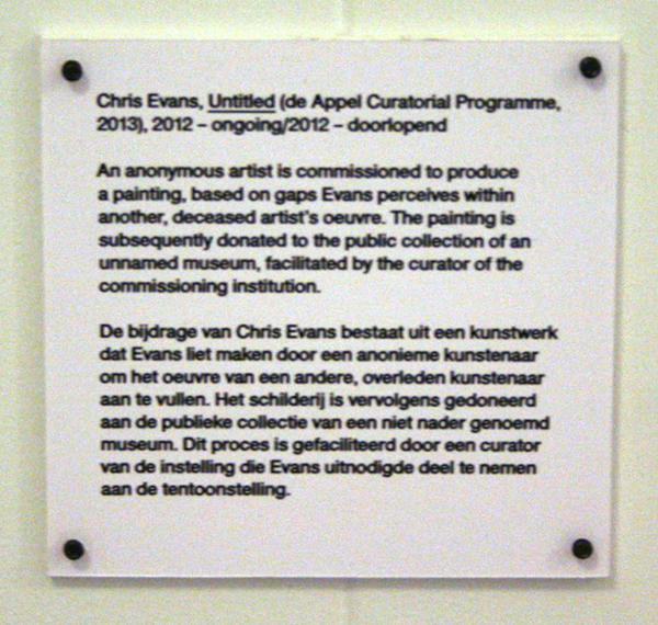 Chris Evans - Untitled - Doorlopend project 2012