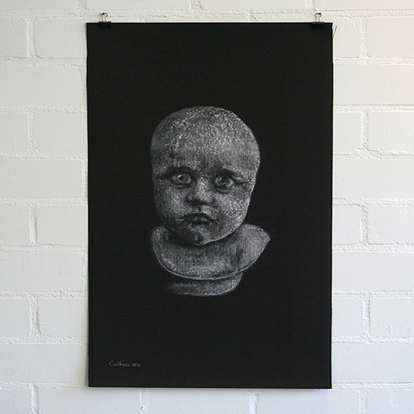 Christina Calbari - Tableau X - 92x70cm Pastel en potlood op canvas