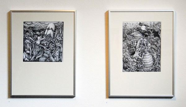 Costin Chioreanu - Horrorworld IV & III - 21x30cm Inkt op papier