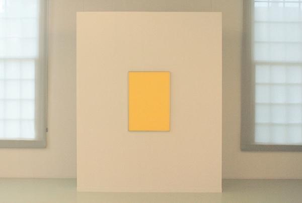 Daan van Golden - Gele Reflectie - Olieverf op doek op paneel achter plexiglas