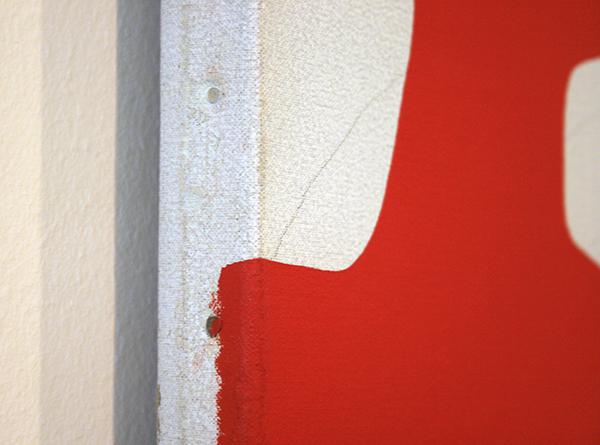 Daan van Golden - Rode Studie - Olieverf en potlood op doek (detail)