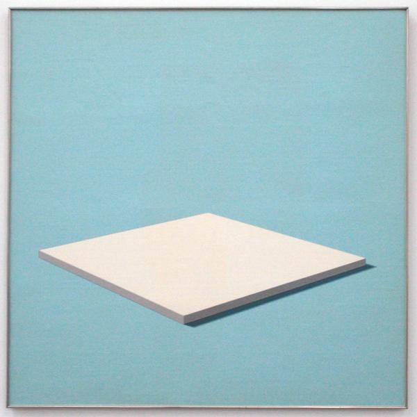 Daan van Golden - White Painting - 100x100cm Gloss paint op canvas op paneel