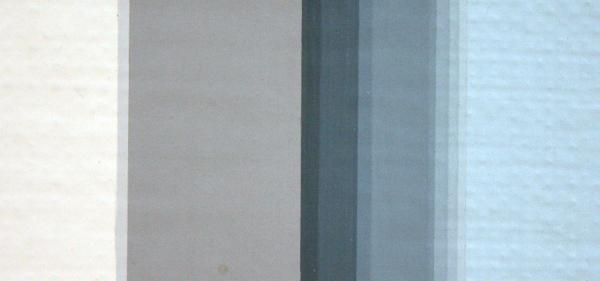 Daan van Golden - White Painting - Alkydverf op doek op triplex (detail)