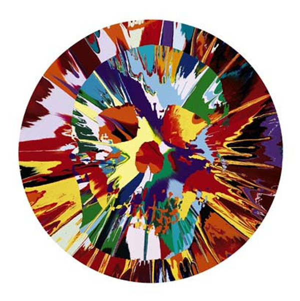 Damien Hirst - Beautiful Helios Hysteria Intense Painting