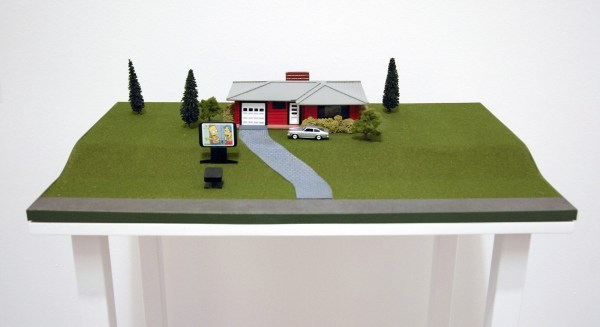 Dan Graham - Video Projection Outside Home (3834,2) - Maquette, geverfd hout en plastic