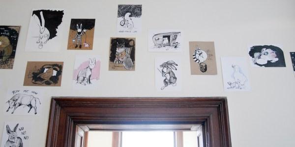 Danielle Hoogendoorn - Diverse werken - 21x30cm & 30x42cm Houtskool en inkt op papier