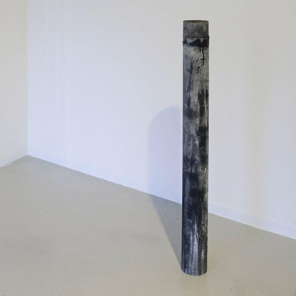 Dario D'Aronco - Pole (Nocturnal Pissing) - 133x20cm PVS, textiel en acrylverf