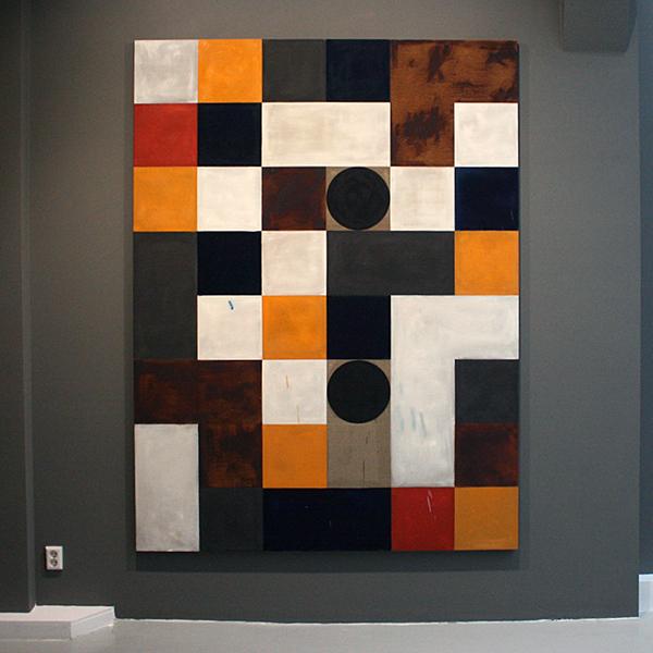 Dave McDermott - De Raad (the Board) - 244x183cm Olieverf en contekrijt op linnen