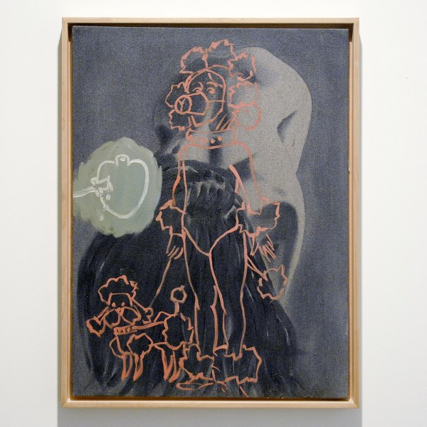 David Salle - Poodle - 61x45cm Olieverf op canvas