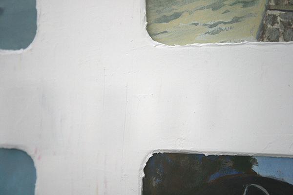 Diederik Gerlach - Rhein Leporello - 9 maal 17x23cm Gouache op papier (detail)