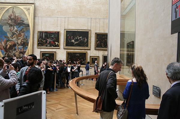 Drukte bij Mona Lisa